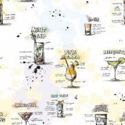 imagem do Papel de Parede Adesivo Gourmet Carta de Drinks /Rolo