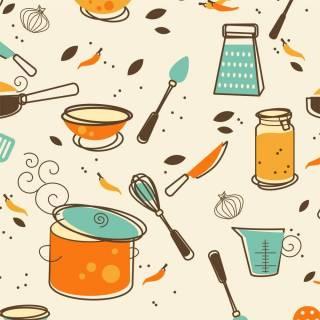 Papel de Parede Adesivo Gourmet Cozinha de Outono /Rolo