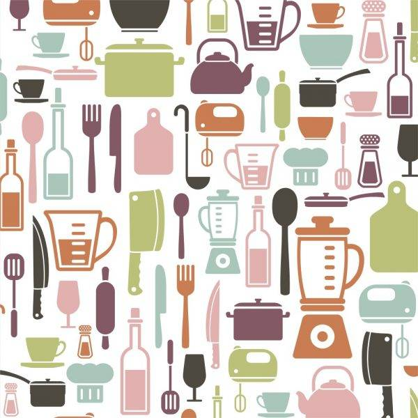 Papel de Parede Adesivo Gourmet Cozinha /Rolo - Redecorei