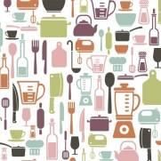 imagem do Papel de Parede Adesivo Gourmet Cozinha /Rolo