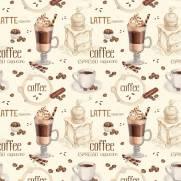 imagem do Papel de Parede Adesivo Gourmet Frapuccino/Rolo
