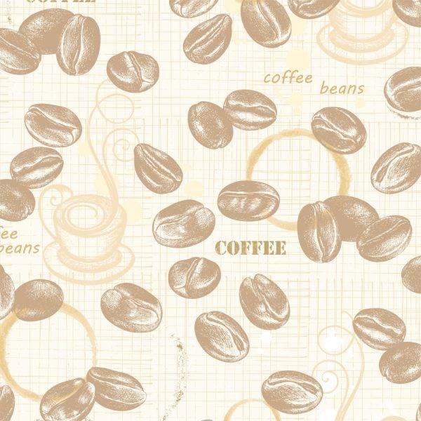 Papel de Parede Adesivo Gourmet Grãos e Marcas /Rolo imagem 1