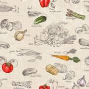 imagem do Papel de Parede Adesivo Gourmet Legumes /Rolo