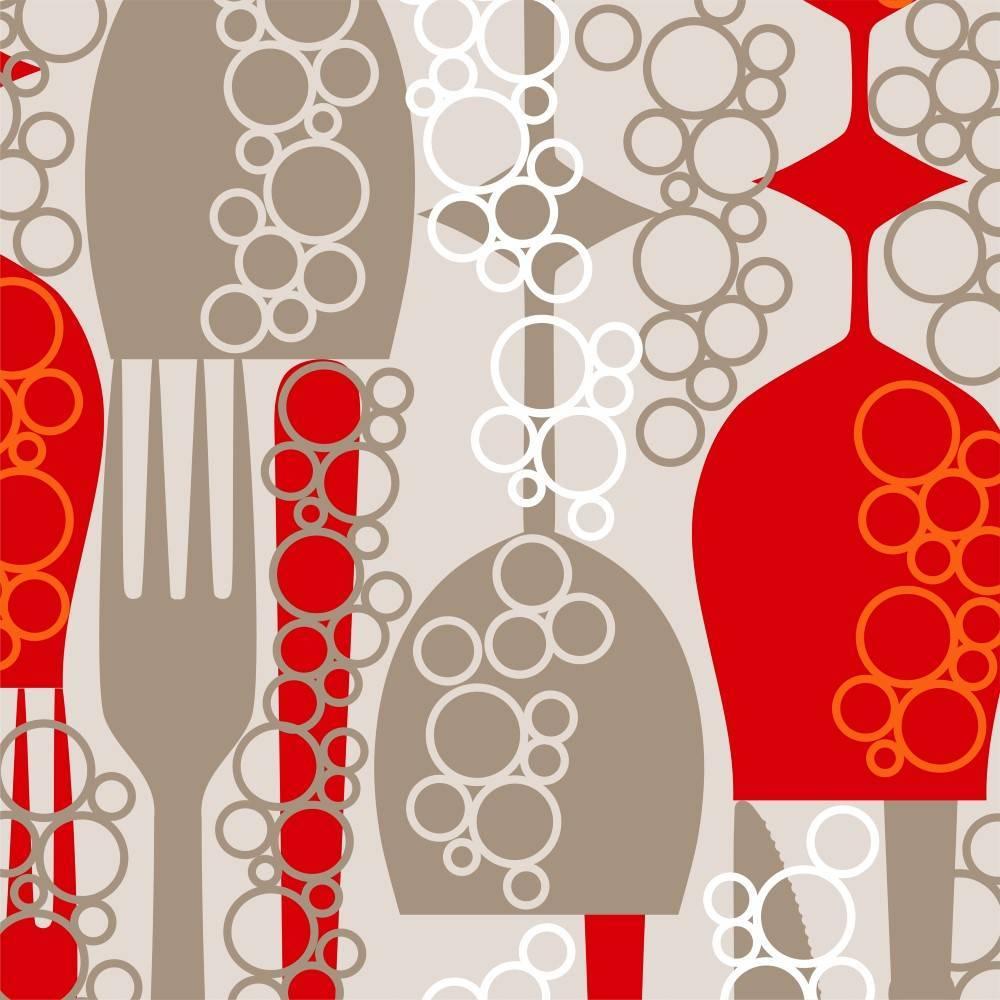 Papel de Parede Adesivo Gourmet Taças /Rolo imagem 1
