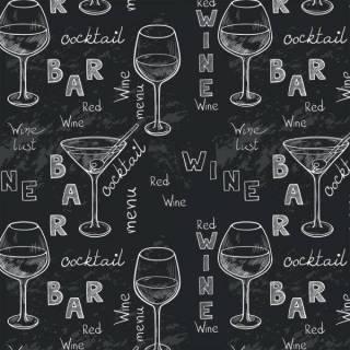 Papel de Parede Adesivo Gourmet Vinho Negro /Rolo