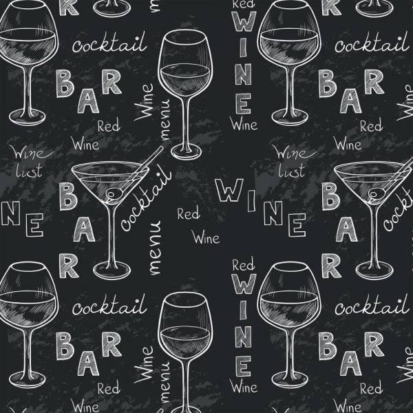 Papel de Parede Adesivo Gourmet Vinho Negro /Rolo imagem 1