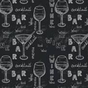 imagem do Papel de Parede Adesivo Gourmet Vinho Negro /Rolo