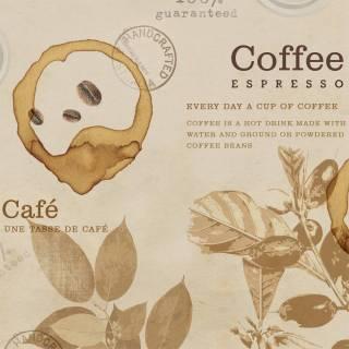 Papel de Parede Adesivo Gourmet Vintage Coffe /Rolo
