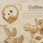 imagem do Papel de Parede Adesivo Gourmet Vintage Coffe /Rolo