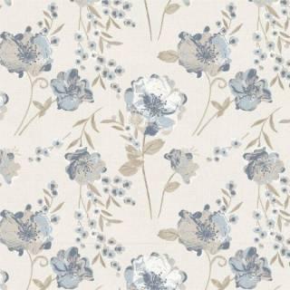 Papel de Parede Floral Azul 2 | Adesivo Vinílico
