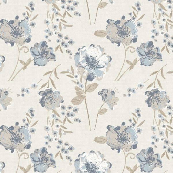 Papel de Parede Floral Azul 2 | Adesivo Vinílico imagem 1