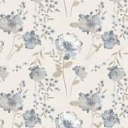 imagem do Papel de Parede Floral Azul 2 | Adesivo Vinílico