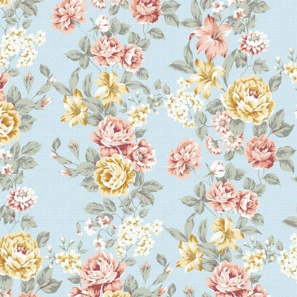 Papel de Parede Floral Vintage 2 | Adesivo Vinílico imagem 1
