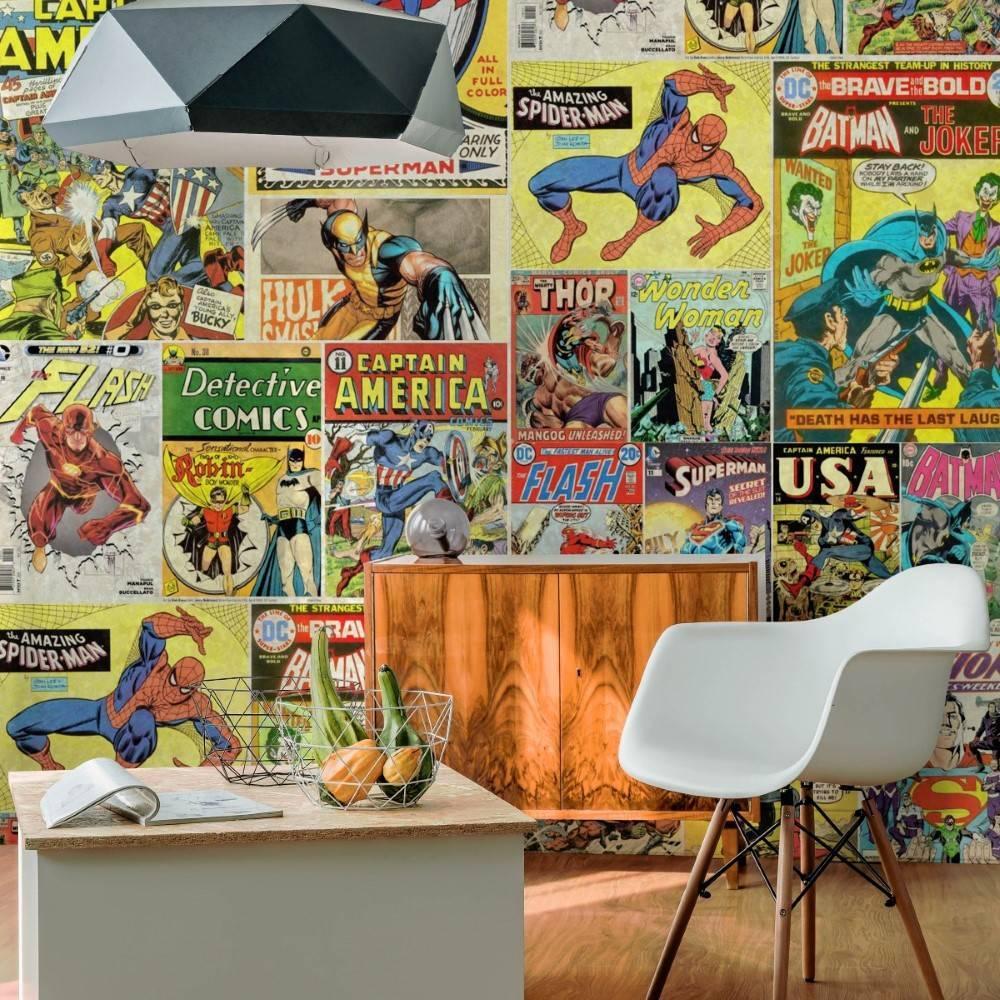 Papel de Parede Adesivo Quadrinhos Comic /Rolo - Redecorei