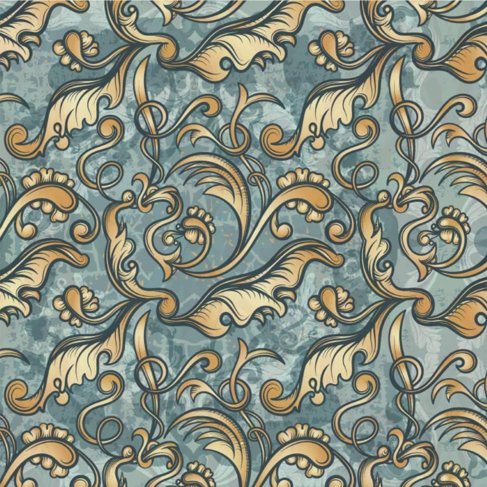 Papel de Parede Arabesco Dourado Vintage | Adesivo Vinilico imagem 2