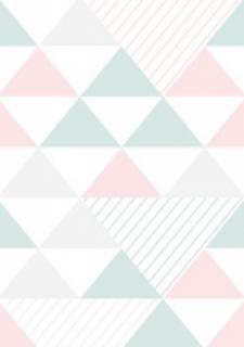 Papel de Parede Triangulo Rosa e Verde | Adesivo Vinilico