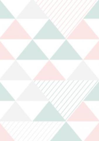 Papel de Parede Triangulo Rosa e Verde | Adesivo Vinilico imagem 1