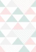 imagem do Papel de Parede Triangulo Rosa e Verde | Adesivo Vinilico