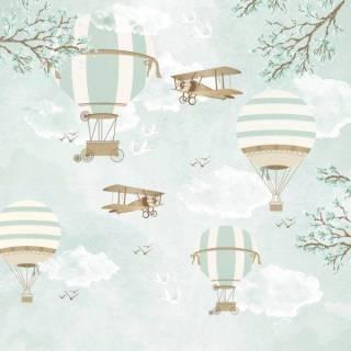 Painel Fotográfico Infantil Lúdico Balões / m²