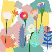 imagem do Painel Fotográfico Aquarela Flores/ m²