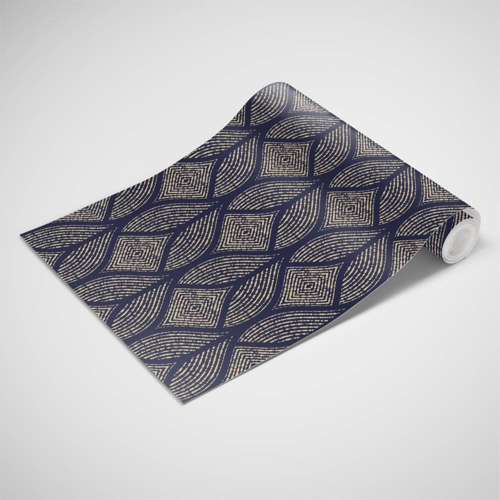 Papel de Parede Azul Marinho Geometrico | Adesivo Vinilico imagem 3