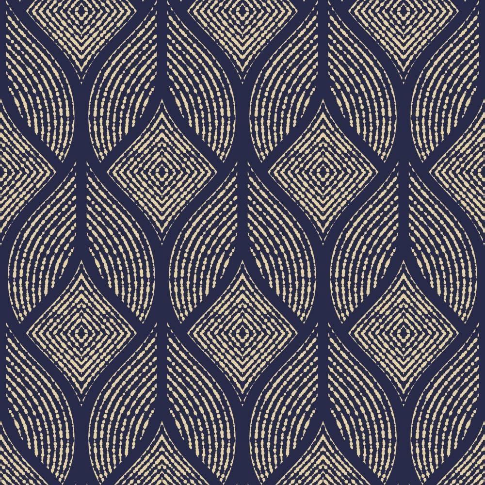 Papel de Parede Azul Marinho Geometrico | Adesivo Vinilico imagem 1