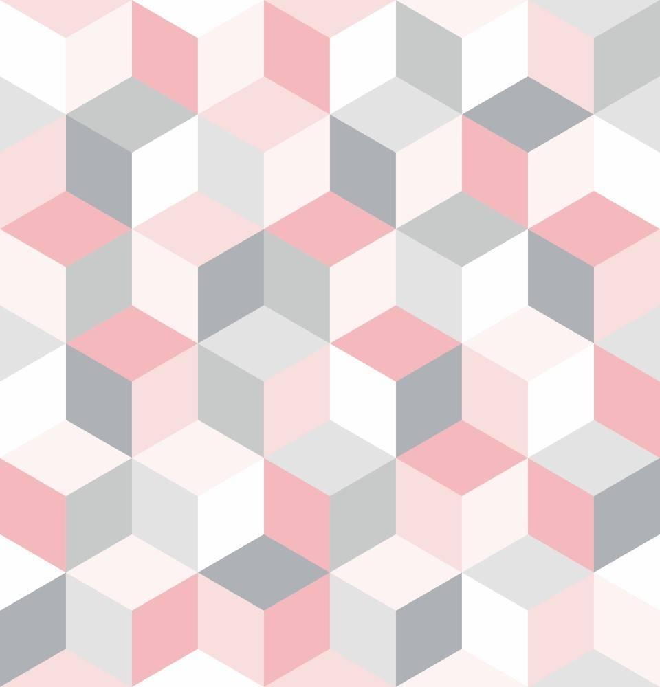 Papel de Parede Cubos Geométrico| Adesivo Vinilico imagem 1