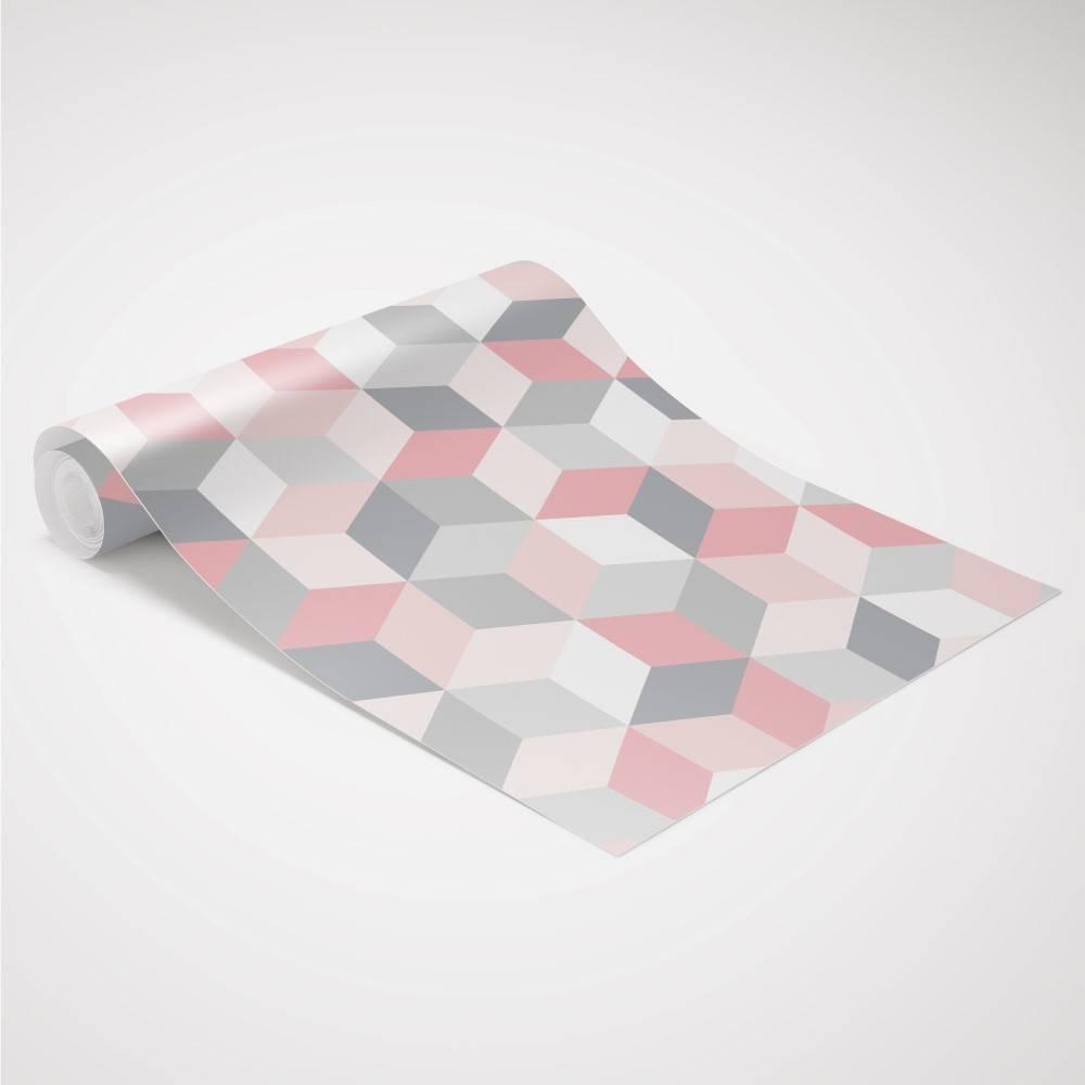 Papel de Parede Cubos Geométrico| Adesivo Vinilico imagem 2