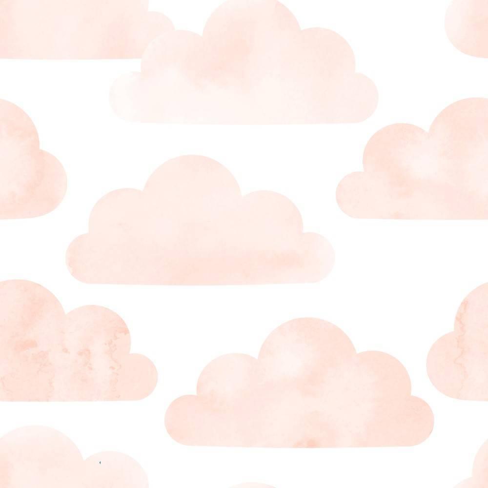 Papel de Parede Nuvem Rosa | Adesivo Vinilico imagem 1