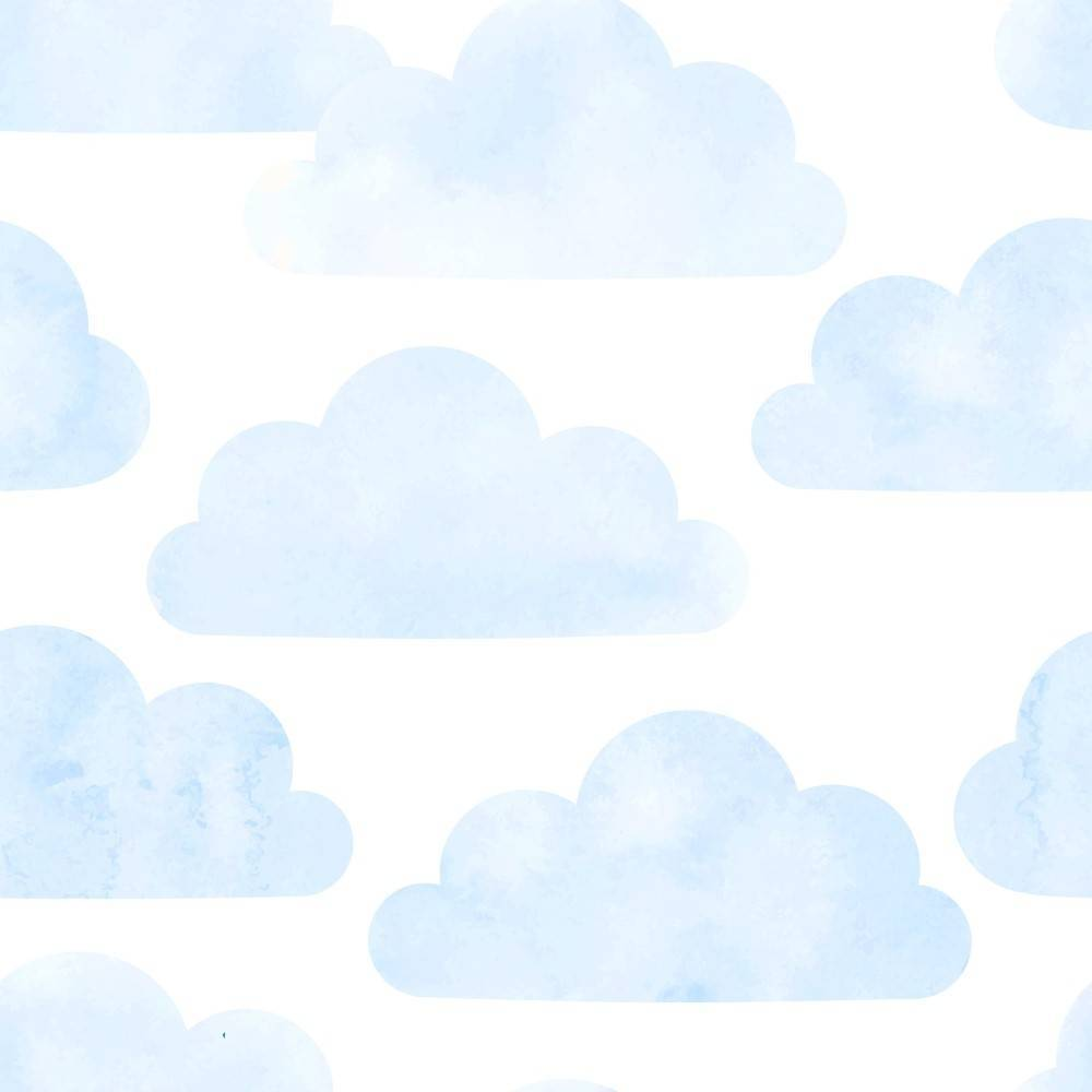 ac90ba4a4 Papel de Parede Adesivo Nuvem Azul  Rolo - Redecorei