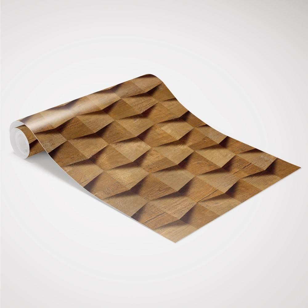 Papel de Parede Madeira 3D | Adesivo Vinilico imagem 3