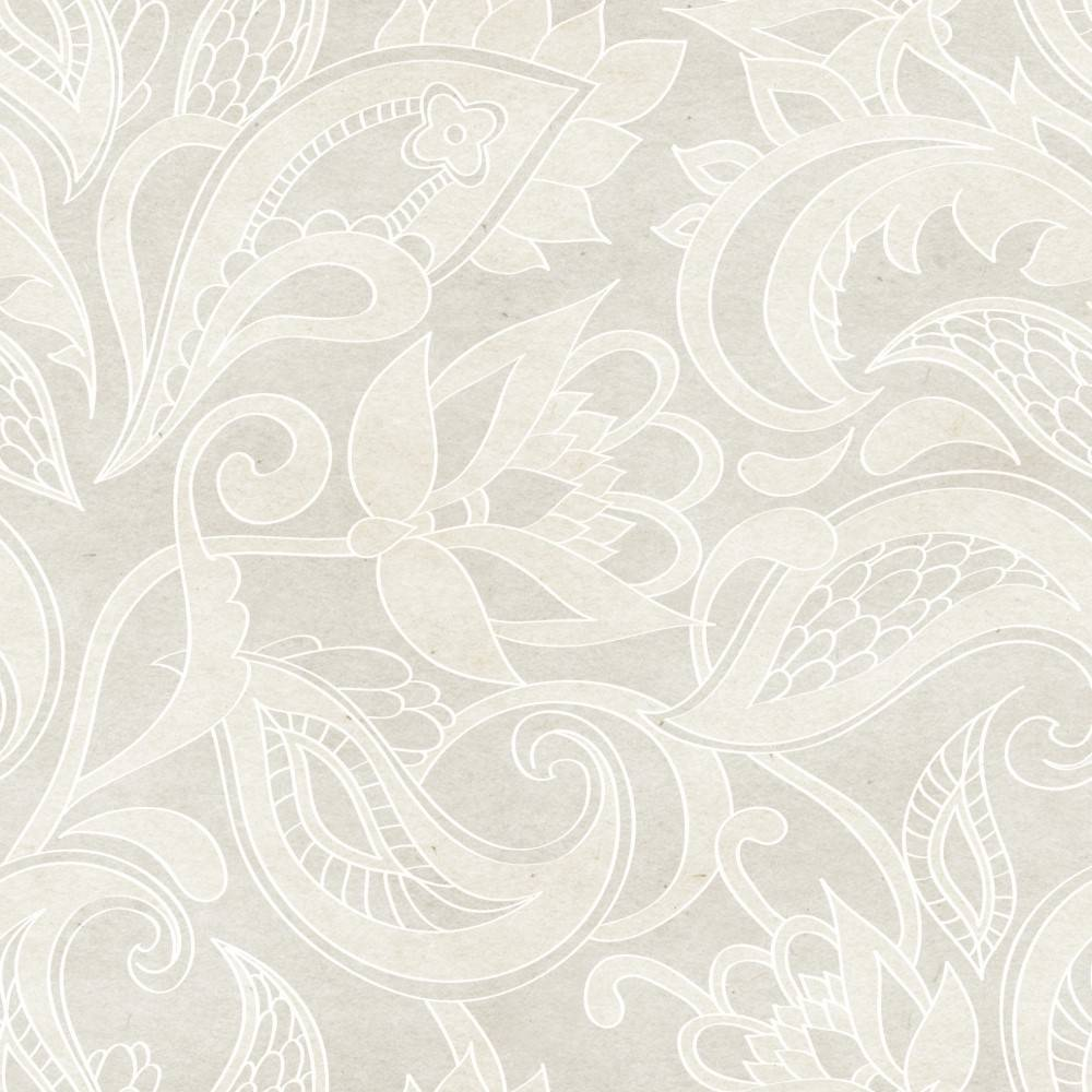 Papel de Parede Floral Bege | Adesivo Vinílico imagem 2
