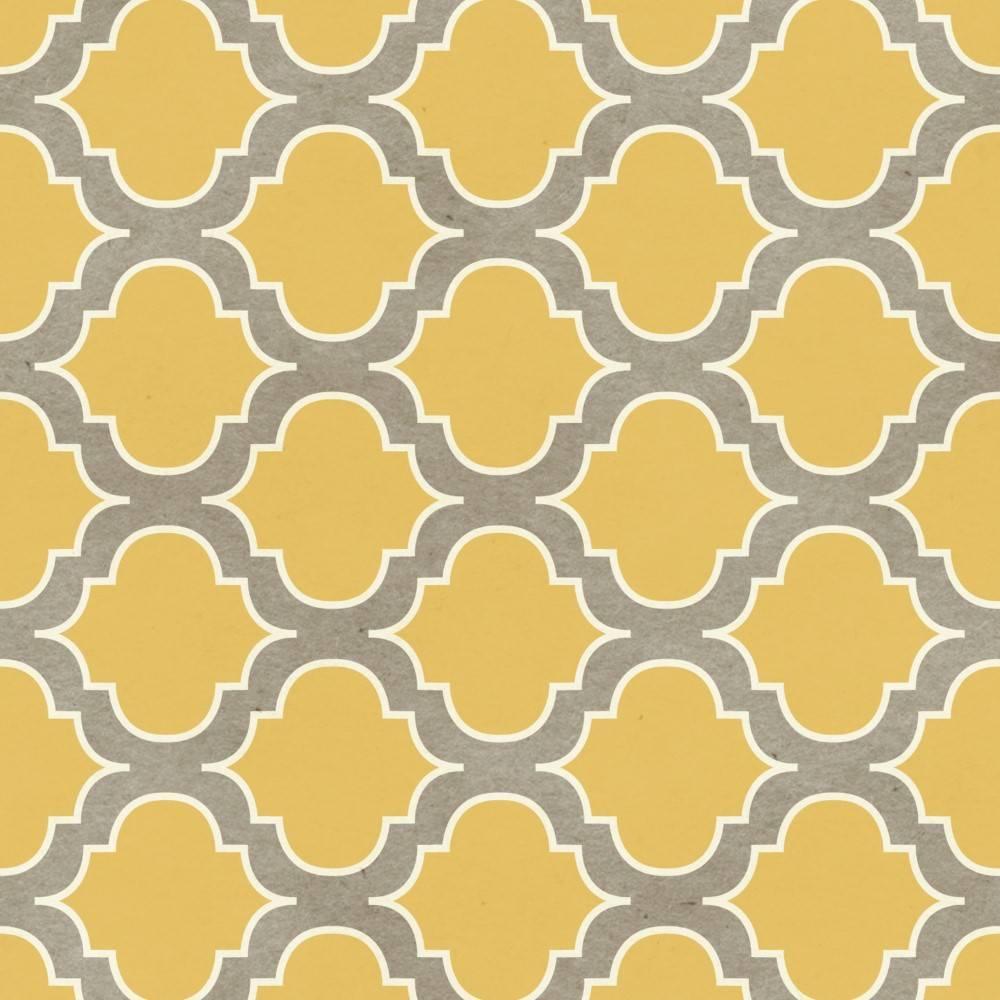 Papel de Parede Retro Vintage Amarelo | Adesivo Vinilico imagem 2