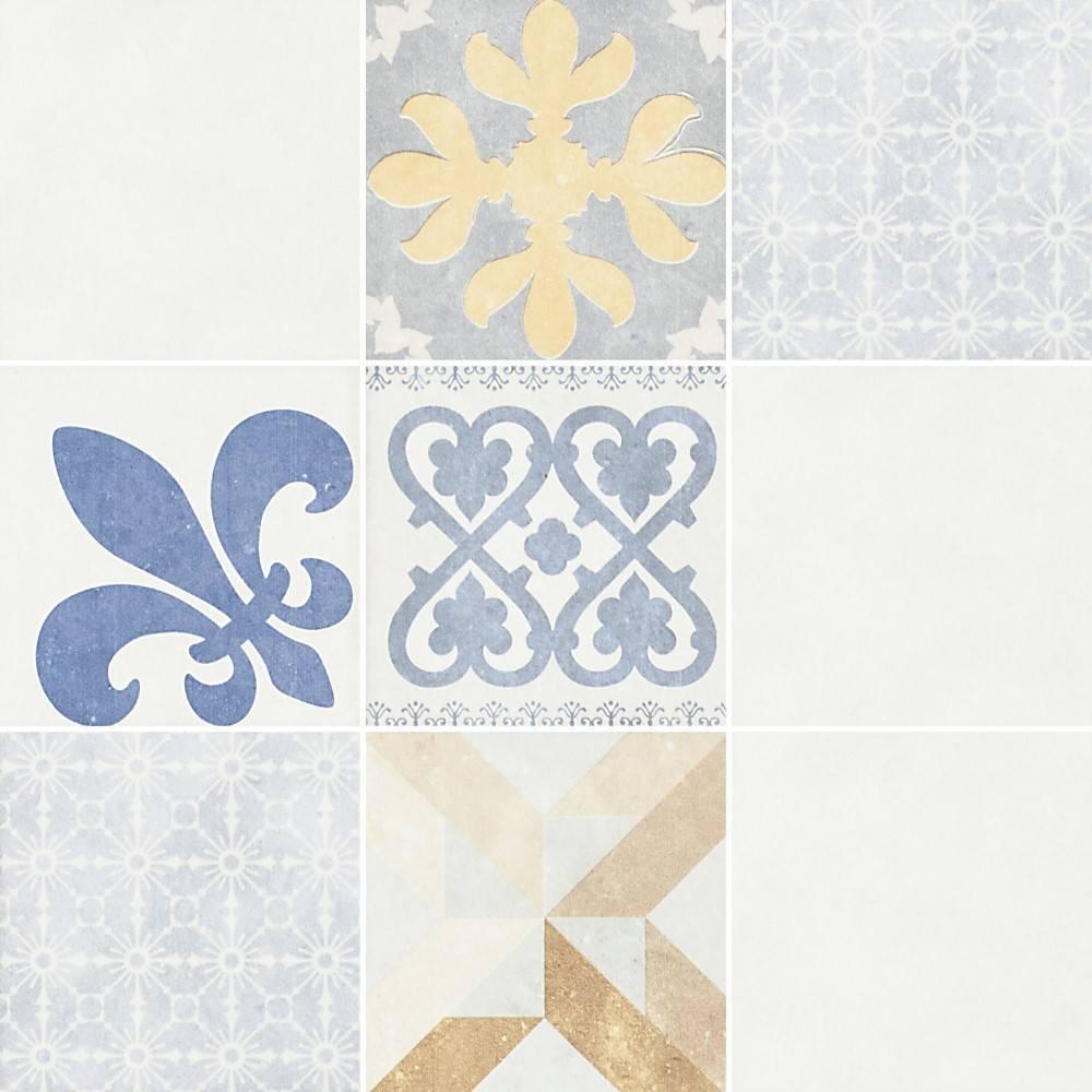 Papel de parede Adesivo Azulejo Madrid Rústico  imagem 1