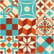 imagem do Papel de parede Adesivo Azulejo Lima