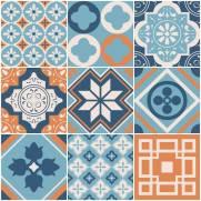 imagem do Papel de parede Adesivo Azulejo Busan