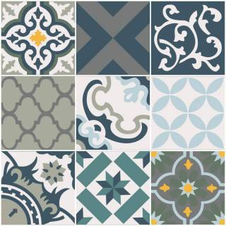 Papel de parede Adesivo Azulejo Salermo | Redecorei