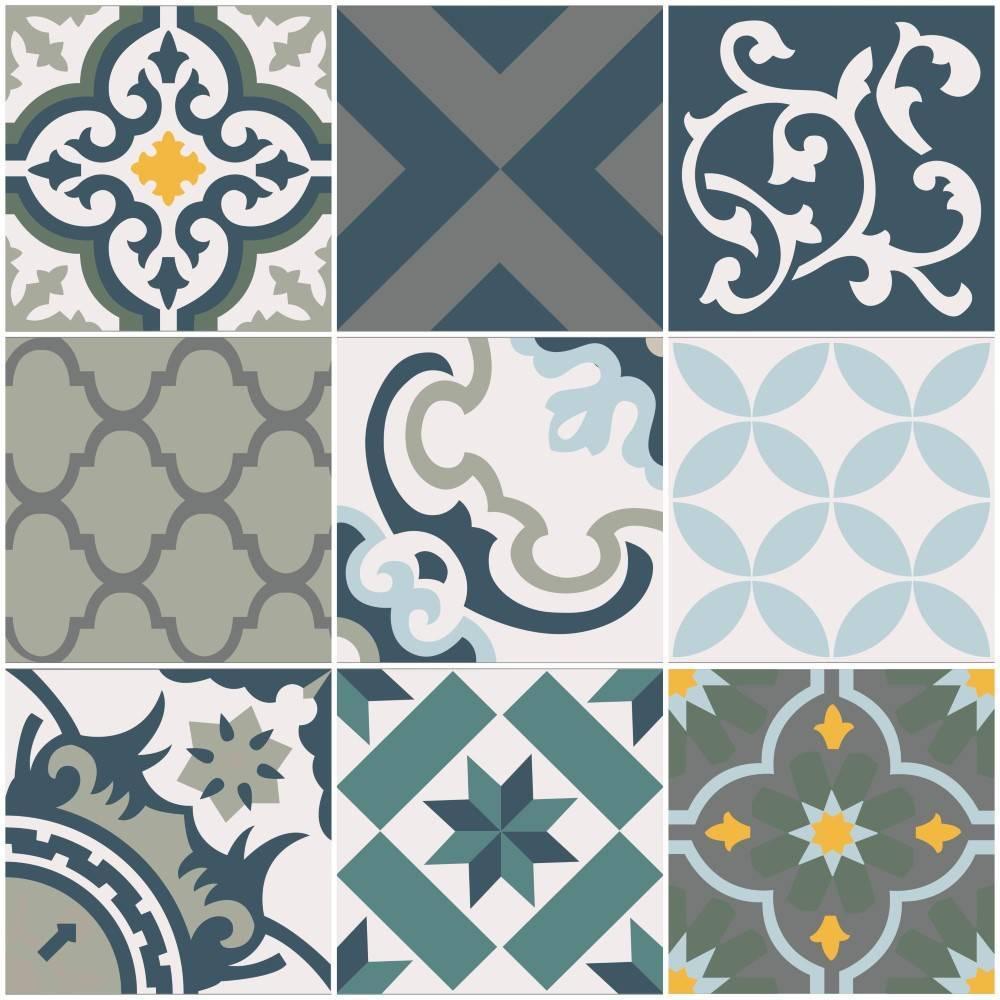 Papel de parede Adesivo Azulejo Salermo