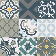 imagem do Papel de parede Adesivo Azulejo Salermo