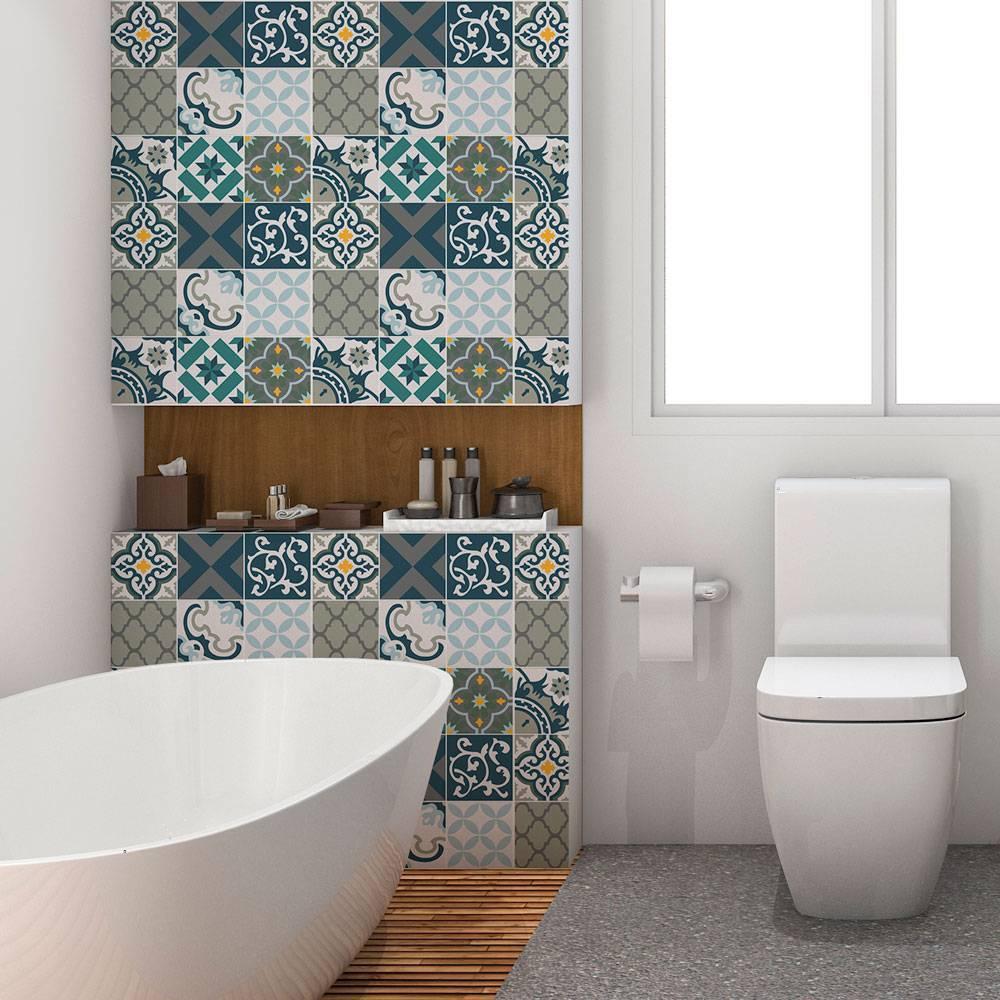 Papel de parede Adesivo Azulejo Salermo imagem 2