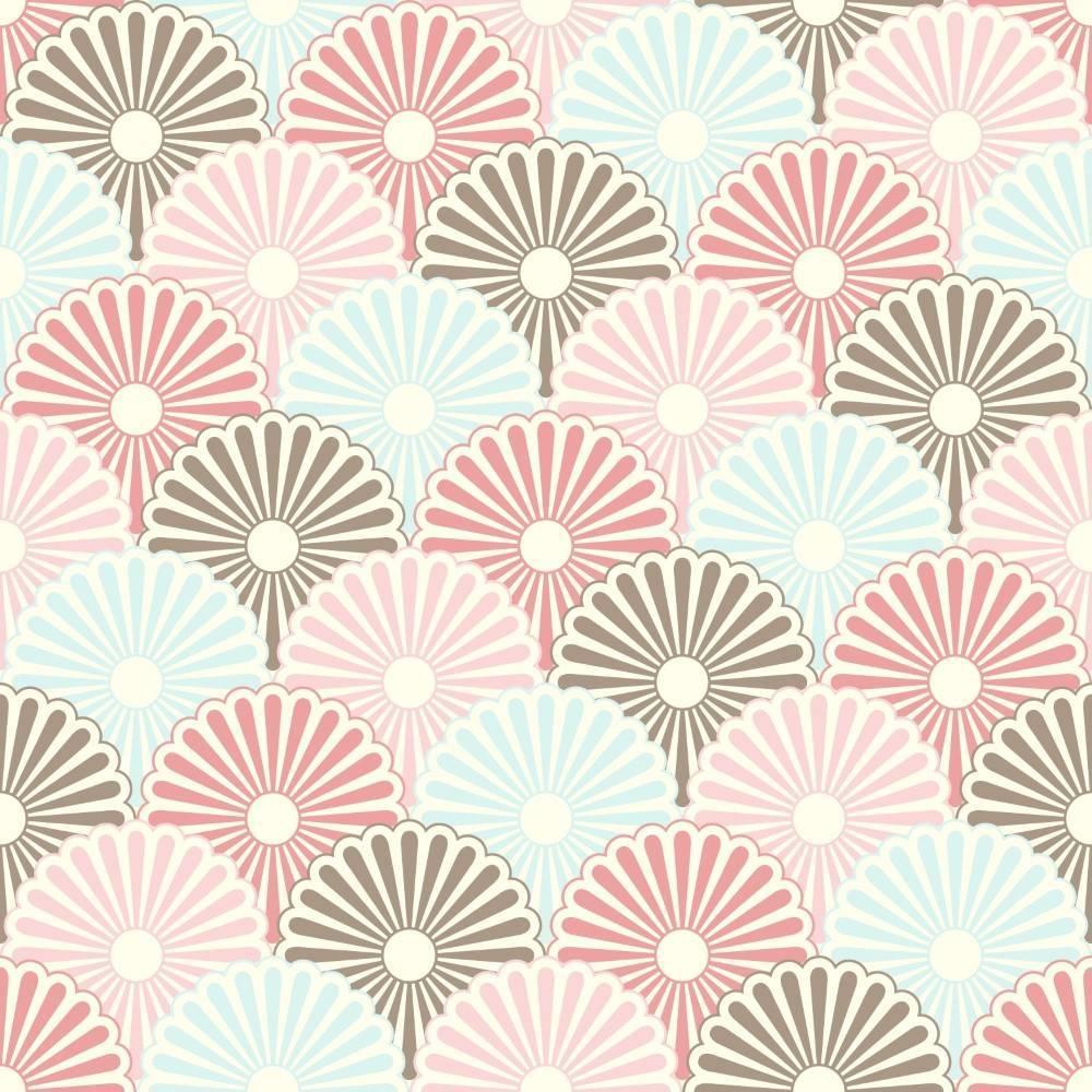 Papel de Parede Adesivo Escamas de Flores/Rolo imagem 1