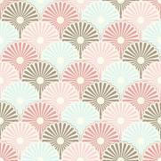 imagem do Papel de Parede Adesivo Escamas de Flores/Rolo