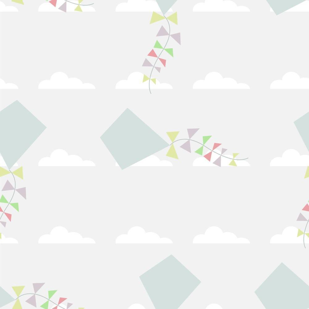 Papel de Parede Adesivo Infantil Pipas /Rolo - Redecorei