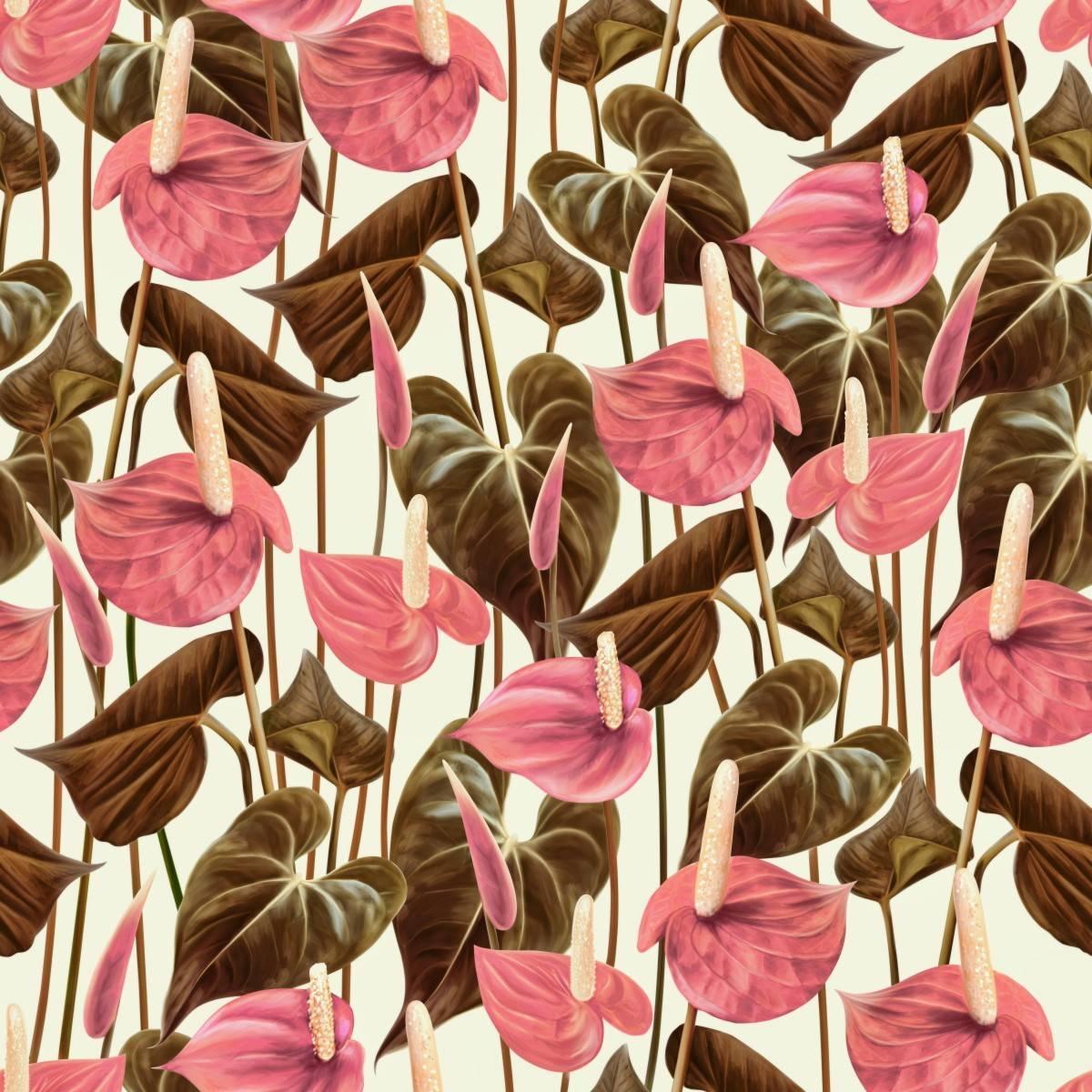 Papel de Parede Floral Rosê Gold | Adesivo Vinílico imagem 2