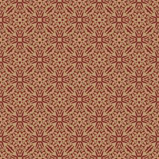 Papel de Parede Adesivo Arabesco Vermelho e Dourado   Redecorei