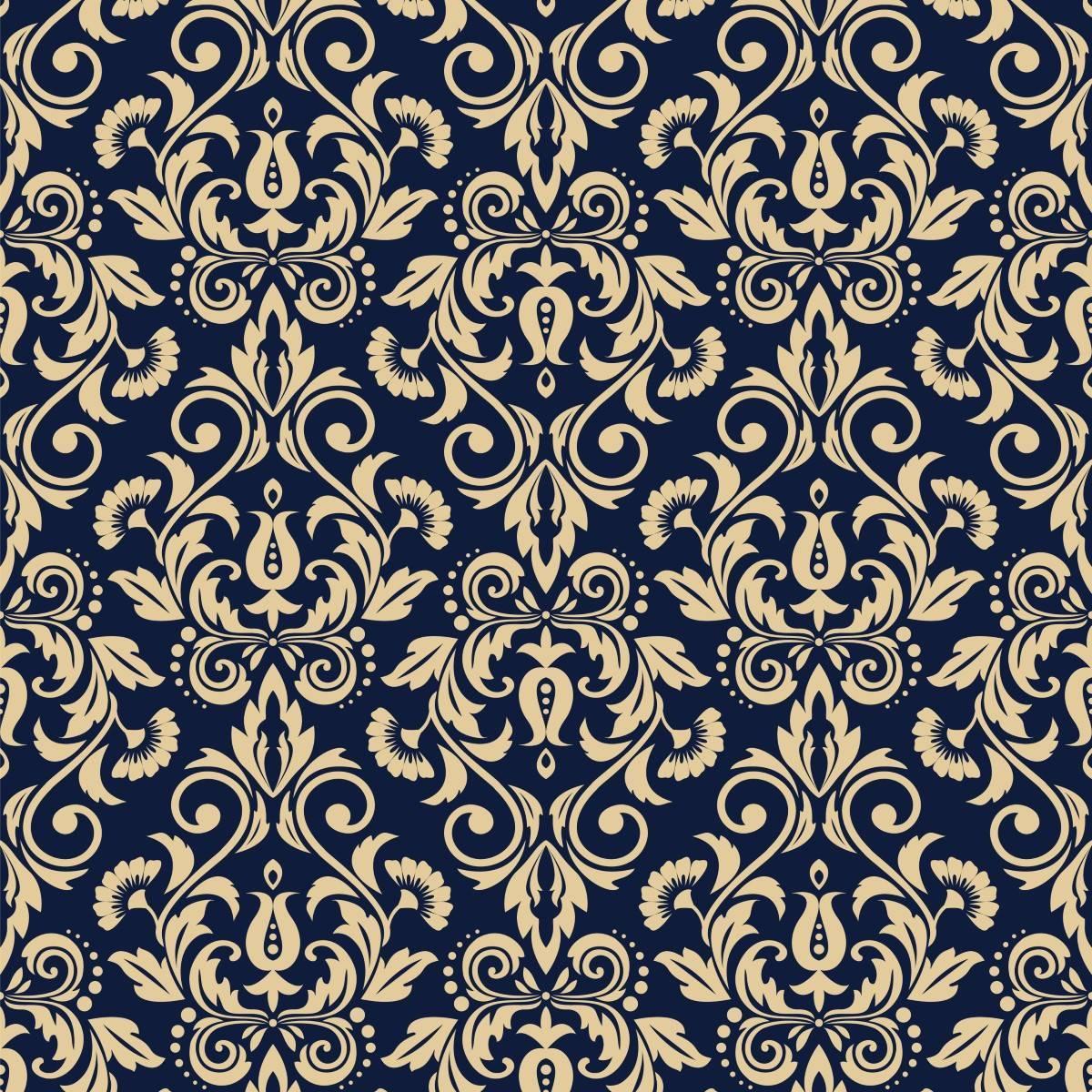 Papel de Parede Arabesco Azul | Adesivo Vinilico imagem 2