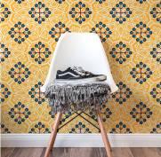 imagem do Papel de Parede Amarelo | Adesivo Vinilico