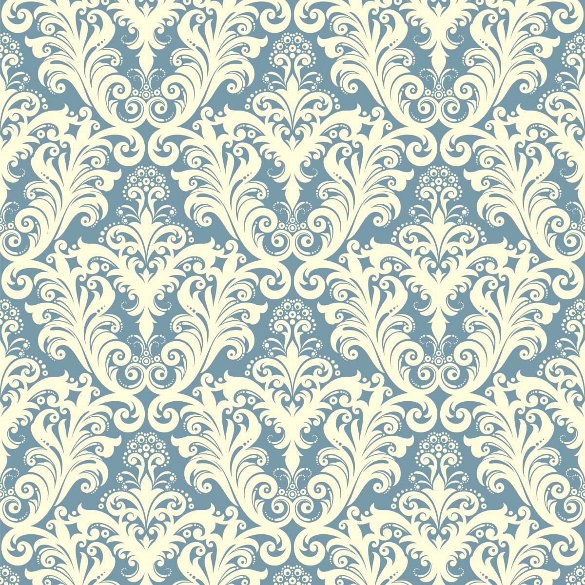 Papel de Parede Arabesco Azul claro | Adesivo Vinilico imagem 2
