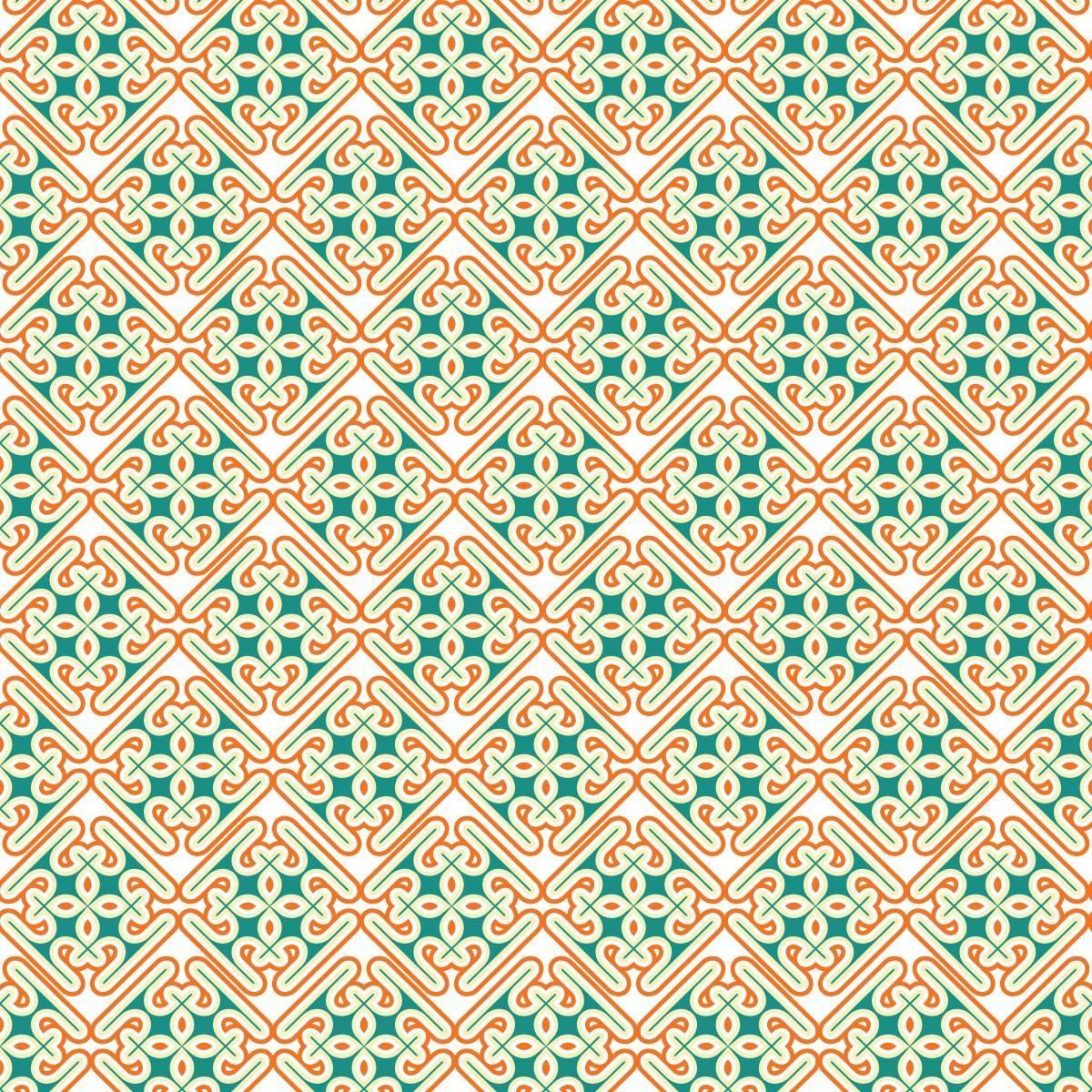Papel de Parede Retrô Colorido | Adesivo Vinilico imagem 2