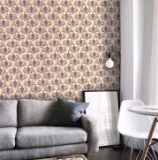 imagem do Papel de Parede Lilas Floral | Adesivo Vinilico